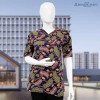 ABG Batik Daun Warna Biru / Baju Atasan Wanita Murah / Murah Berkualit