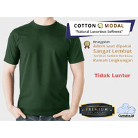 CUMULUS T-shirt Kaos Polos O-Neck 100% Cotton Modal - Hijau Botol