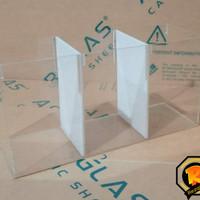 soliter Cupang akrilik / acrylic sekat Aquarium 3 kamar 2mm