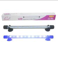 lampu led aquarium 30 cm celup warna putih biru
