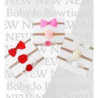 Bandana bayi set bando bayi 3in1 rose headban baby newborn