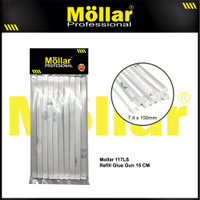 MOLLAR 117LS1015 10 Pcs Refill Isi Lem Tembak Glue Gun Kecil 15 Cm