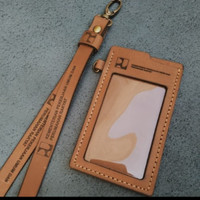 Id card kulit asli CASTOM LOGO FREMIUM tag name dompet card holder