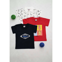 Buy 1 get free 2 - Baju Bayi Laki-Laki Polo Bayi dan Kaos Bayi 0005 - 3-6 Bulan, Motif A