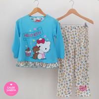 Baju Tidur Anak Perempuan/Piyama Anak Cewek Motif Hello Kitty - PjgPjg