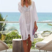 SERENITY BEACH TOP Bikini Outer Luaran Pantai / Cardigan Kimono Wanita