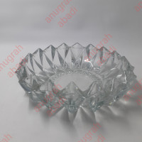 asbak kaca kristal 1551 kuku macan 18cm