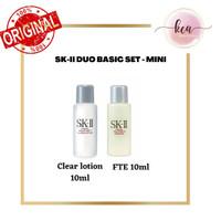 SKII/SK-II/SK2/SK II DUO BASIC MINI SET (Clear Lotion 10ml, FTE 10ml)