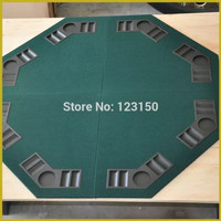 Poker Table Top 120cm Green tabletop, MDF Material, four fold