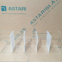 soliter Cupang acrylic / akrilik sekat Aquarium 5 kamar 2mm