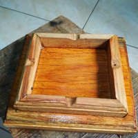 Asbak Kayu Kotak Besar 15x15 cm