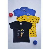 Buy 1 get free 2 - Baju Bayi Laki-Laki Polo Bayi dan Kaos Bayi 0006 - 3-6 Bulan, Motif C