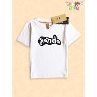 Kaos Baju anak Kids Panda face black and white