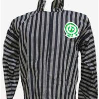 baju surjan dewasa lurik hitam Abu S M L XL
