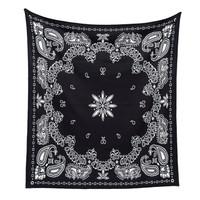 Selimut Blanket Kirapassa Bandana Medium Black Hitam