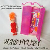 Lemari Baju Boneka Kelly Satuan - Rak Baju Barbi Berbi Mainan Murah
