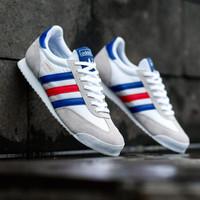 Sepatu Sneakers Adidas Dragon White France Original