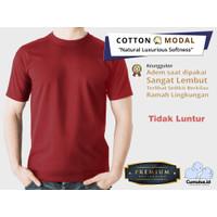 CUMULUS T-shirt Kaos Polos O-Neck 100% Cotton Modal - Merah Maroon