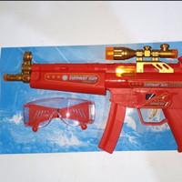 senapan avengers + goggle/heroes vibrate combat gun/mainan anak