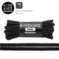 KIPZKAPZ OSP6 Black Grey - Tali Sepatu Oval / Oval Shoelace 6mm