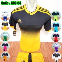 [ Adidas 04 ] Baju Olahraga Jersey Bola Kaos Setelan Futsal Volly - Pink, M