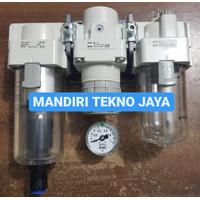 Air Filter Regulator Lubricator auto drain smc AC30-03DG 3/8 + gauge