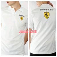 Polo shirt Tshirt Kaos Kerah Mobil Ferrari