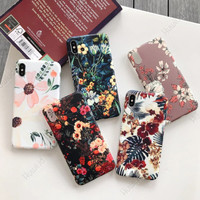 HUAWEI Honor 3c Lite Retro Flower Matte Bunga Hard Soft Case Casing