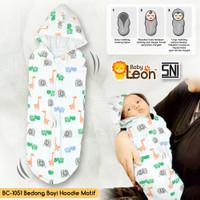 1 Pcs Bedong Hoodie Instan Bedong Bayi Instan BABY LEON BC-105-1