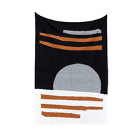 Selimut Blanket Kirapassa Sun Small Black Brown Hitam