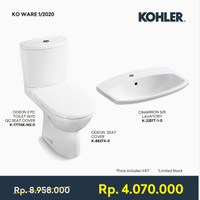 Paket Toilet & Wastafel - Kohler Ko Ware 1/2020