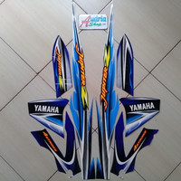 Striping Stiker Motor Yamaha Jupiter Z 2005 Biru