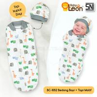 Bedong Instan + Topi bayi BABY LEON BC-105-2 Bedong Bayi Instan