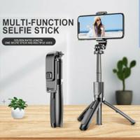 Tongsis Selfie Stick L02 3in1 Tripod & Bluetooh Shutter Original