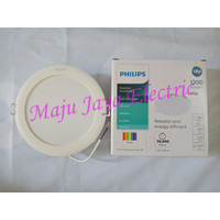 "LED Downlight Philips DN020B G3 14 W Watt Lampu Panel Essential 14W 6"""