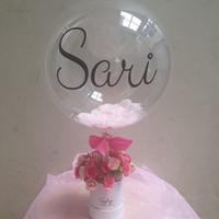 Mini Bloom Box Balloon Buket Balon Hadiah Valentine Wisuda Ultah Murah