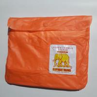 jas hujan ponco lengan colour gajah - Orange
