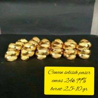 Cincin selisih pasir emas asli kadar 99/24k
