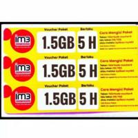 Voucher data Indosat 1,5GB 5 Hari