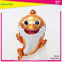 Balon Foil Karakter Baby Shark Ikan Hiu Orange