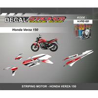 DEKAL STIKER MOTOR HONDA VERZA 150 STRIPING KEREN BARU MOTIF RACING
