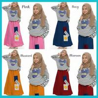 baju muslim anak perempuan | pakaian anak cewek umur 7-9 tahun CHENA