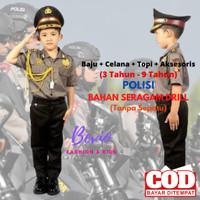 Kostum Baju Seragam Profesi Anak Polisi Setelan Cowok Karnaval