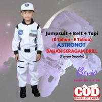 Kostum Anak Profesi Astronot Putih Baju Seragam Karnaval PAUD Laki - 1