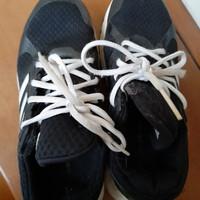 Adidas Cloudfoam Original Black Hitam Sepatu Sekolah Preloved