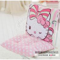 bantal alas duduk dan sandaran kursi bangku hello kitty pink