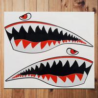 Stiker Bape Shark Twins