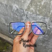 Kacamata tony stark lensa full anti radiasi blue ray Gadget/Komputer