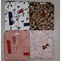 Baju Tidur Piyama Katun Jepang Greet Lengan Panjang Size Jumbo