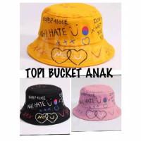 Topi Bucket baddas topi korea kpop premium anak